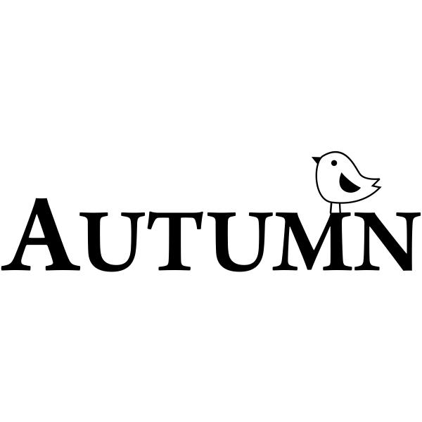 Autumn Birdie Craft Stamp