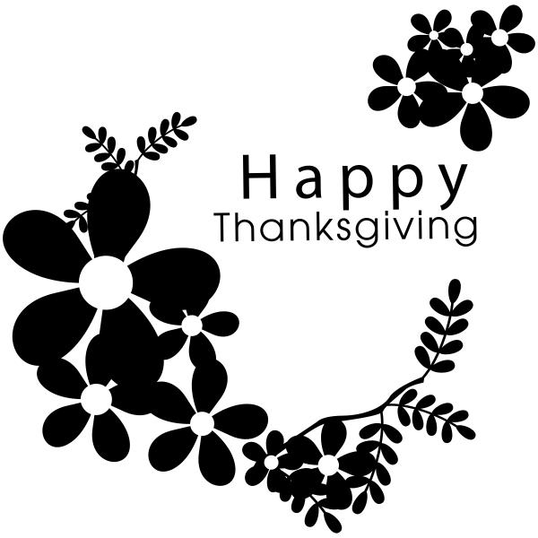 Happy Thanksgiving Daisies Craft Stamp