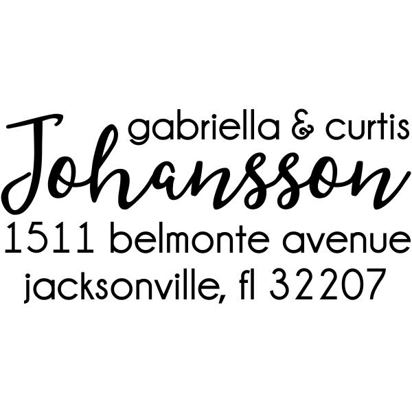 Johansson Script Address Stamp