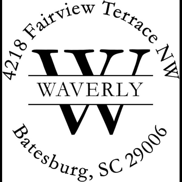 Waverly Return Address Stamp