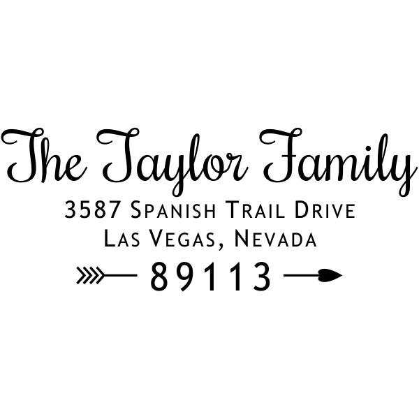 Taylor Family Love Return Address Stamp