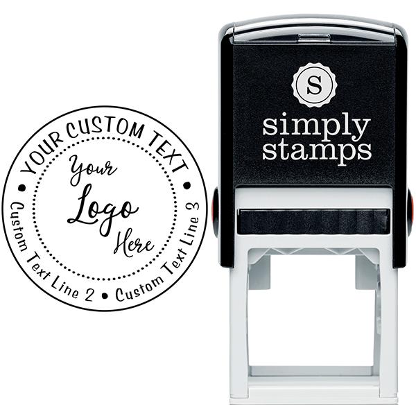 Your Custom Logo Round Stamp Body and Design