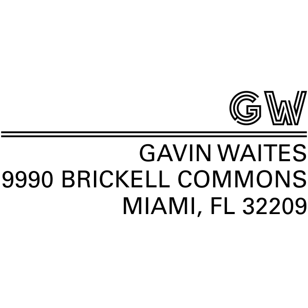 Gavin Graphic Address Stamp