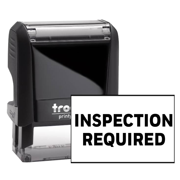 Inspection Required Rubber Stamp