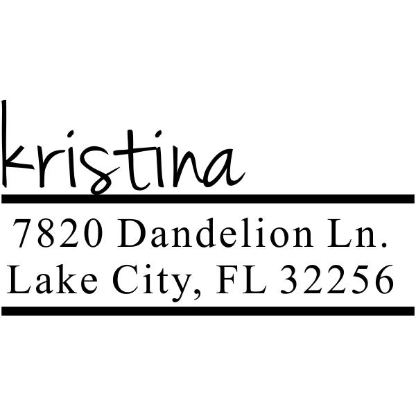Handwritten Name Return Address Stamp