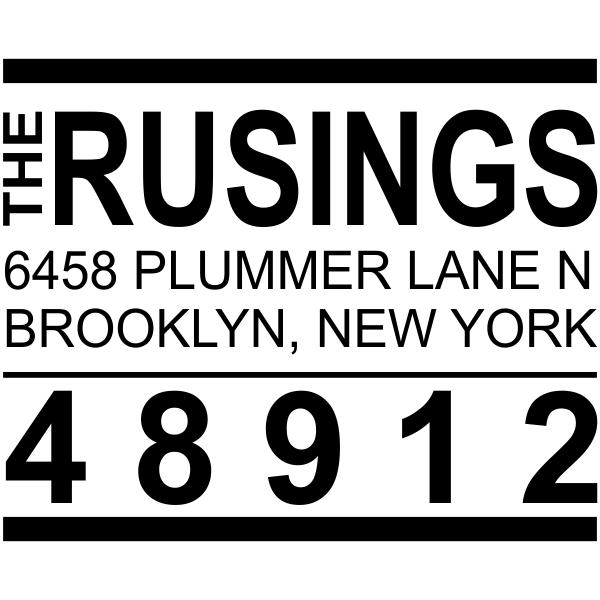 Brooklyn Style Return Address Stamp