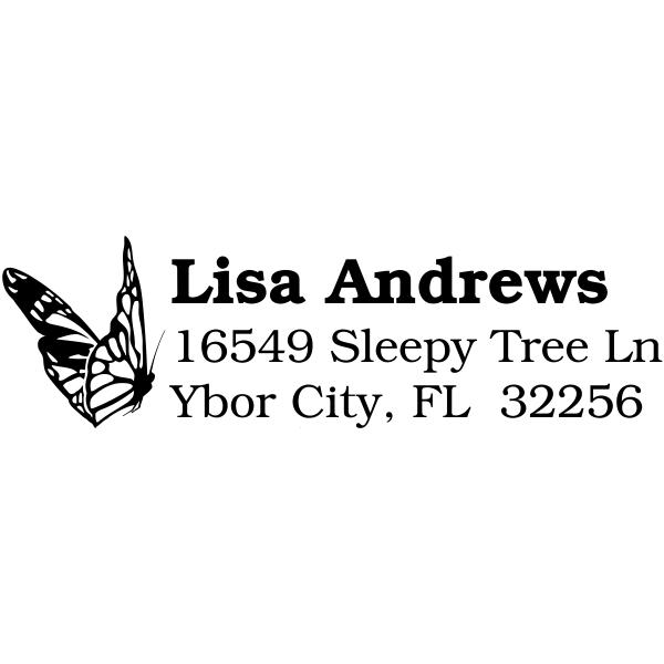 Monarch Butterfly Custom Address Stamp