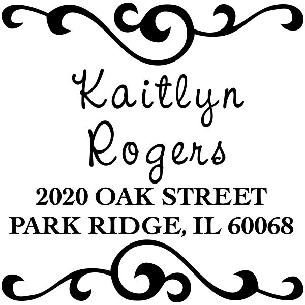 Kaitlyn Square Address Stamp