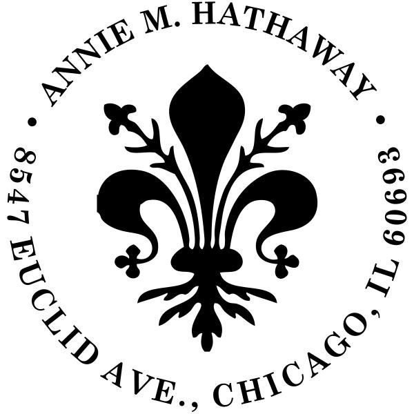 Round Deco Address Stamp