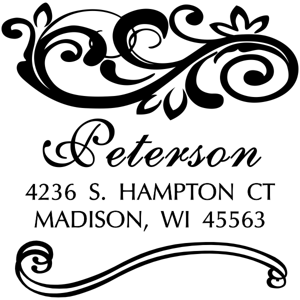 Shelley Square Address Stamp