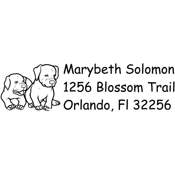 Cute Puppy Dog Return Address Stamp