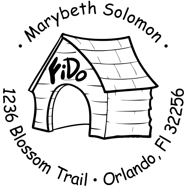 In The Dog House Return Address Stamp