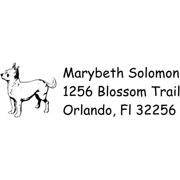 Chihuahua Dog Return Address Stamp