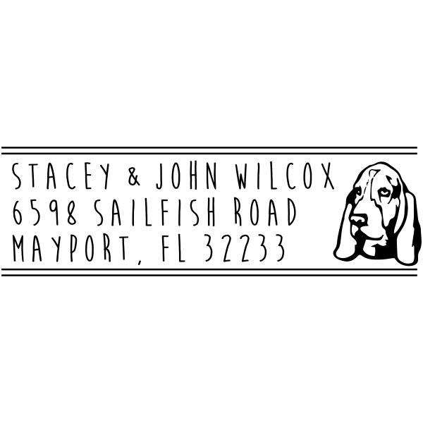 Basset Hound Dog Address Stamp