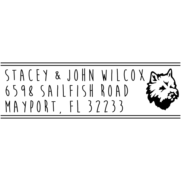 Maltese Dog Address Stamp