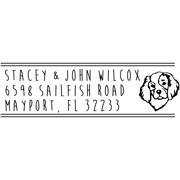 Spaniel Dog Address Stamp