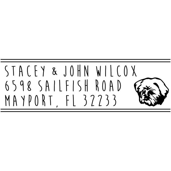 Havanese Dog Address Stamp