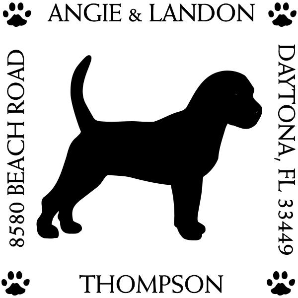 Beagle Pet Lover Dog Return Address Stamp
