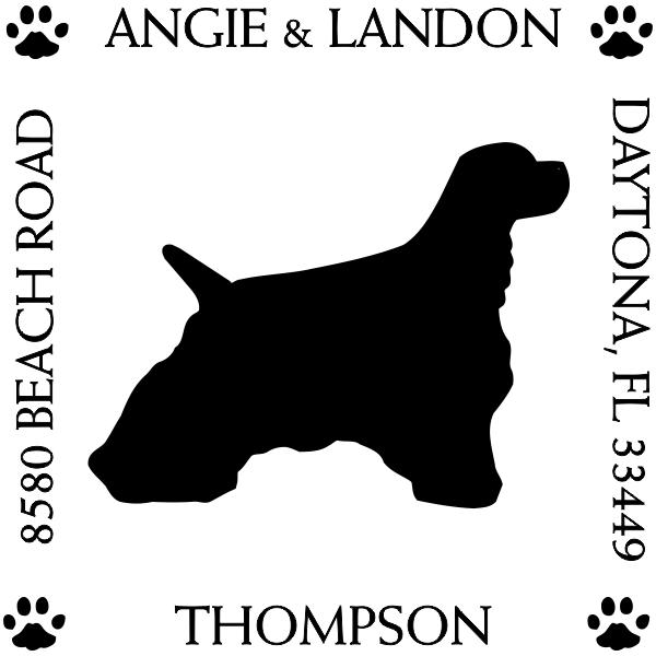 Cocker Spaniel Pet Lover Dog Return Address Stamp