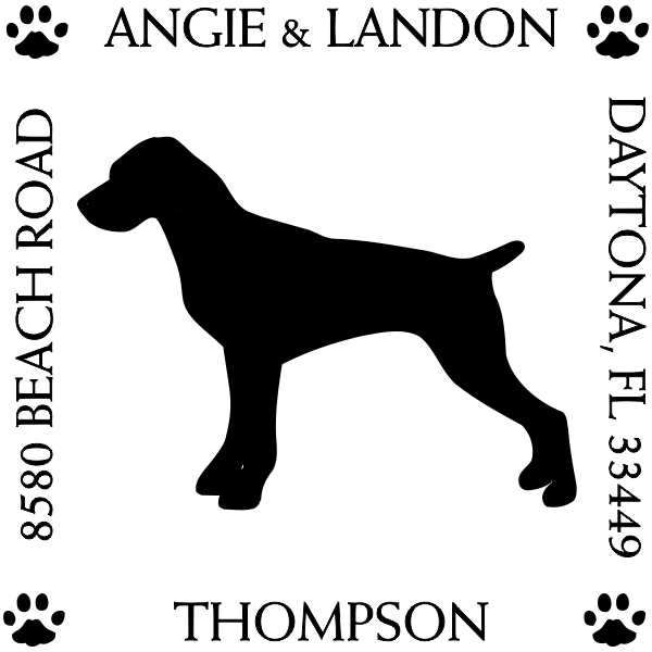 Pointer Pet Lover Dog Return Address Stamp