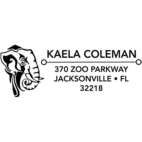 Tribal Elephant Address Stamp