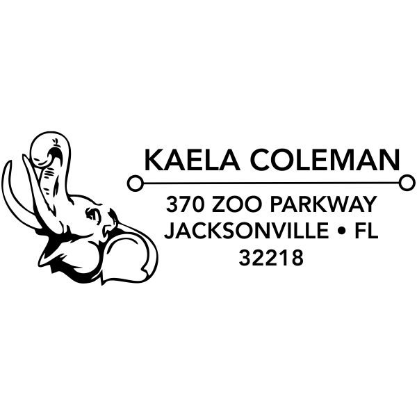Happy Elephant Address Stamp