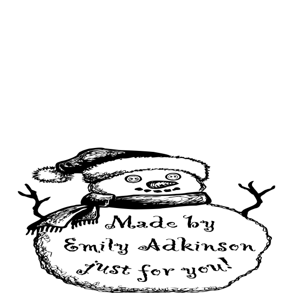 Made By Snowman Holiday Gift Rubber Stamp