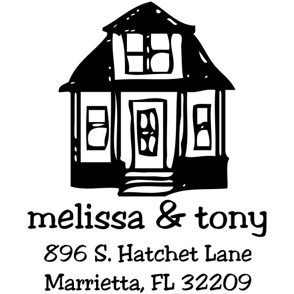 Little House Return Address Stamp