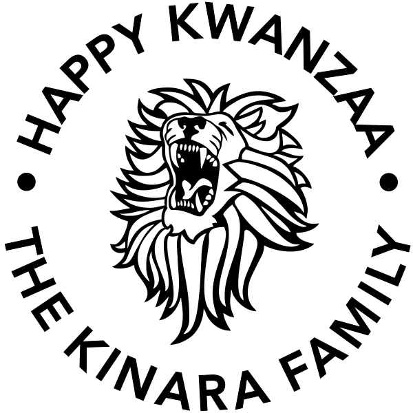 Happy Kwanzaa Lion Holiday Rubber Stamp