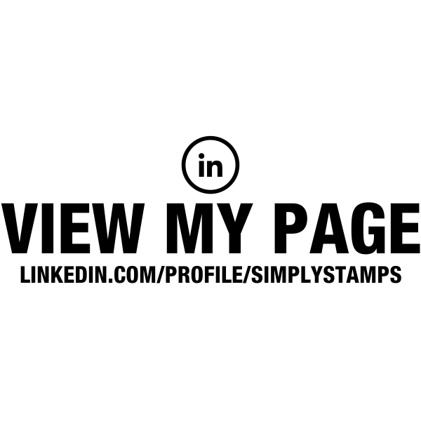 View My Linked In Page URL Stamp