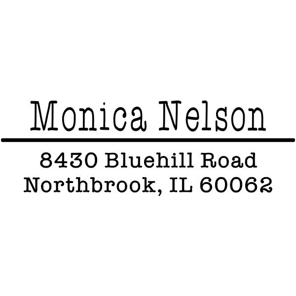 Nelson 3 Line Separator Address Stamp
