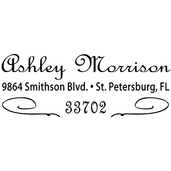 Morrison Deco Cursive Address Stamp