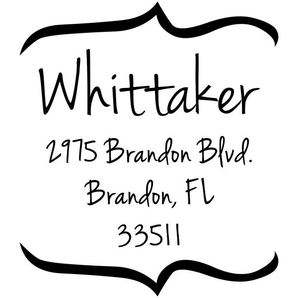 Whittaker Bracket Return Address Stamp