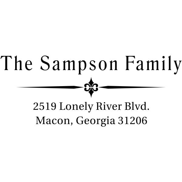 Sampson Vintage Return Address Stamp