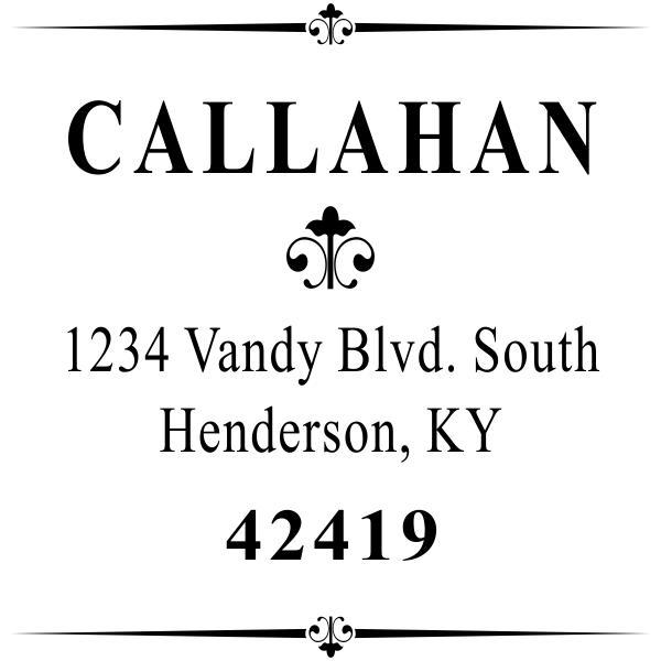 Callahan Vintage Deco Address Stamp