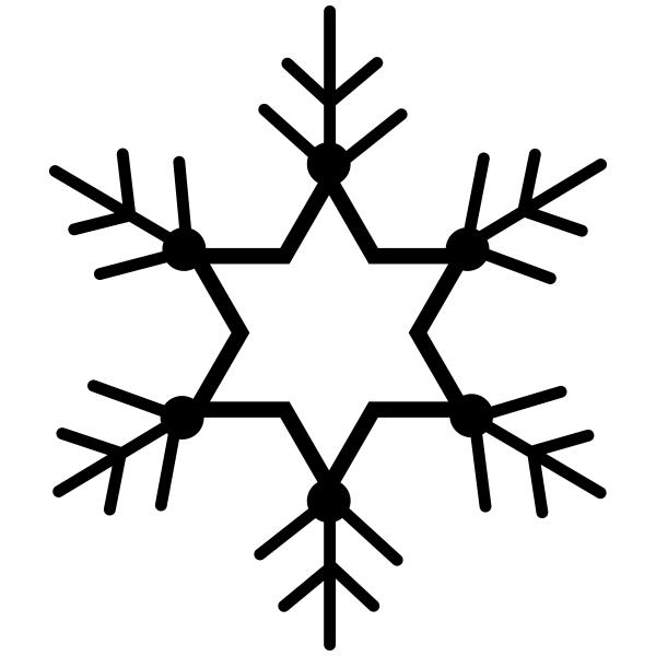 Star Snowflake Craft Stamp