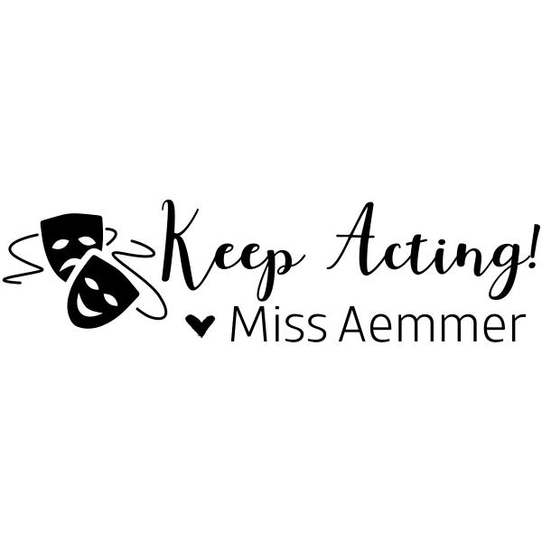 Acting Teacher Yearbook Stamp