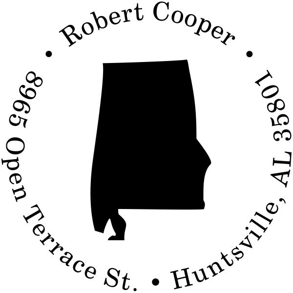 Alabama Round Address Stamp