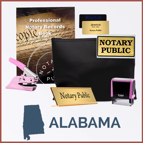Alabama Pink Deluxe Notary Kit