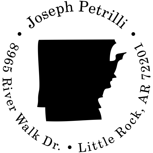 Arkansas Round Address Stamp