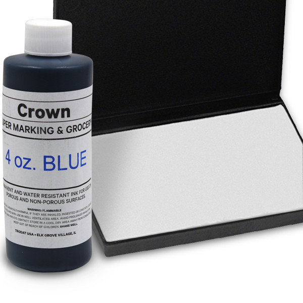 Blue 4oz SuperMarking Ink w/ Medium Pad