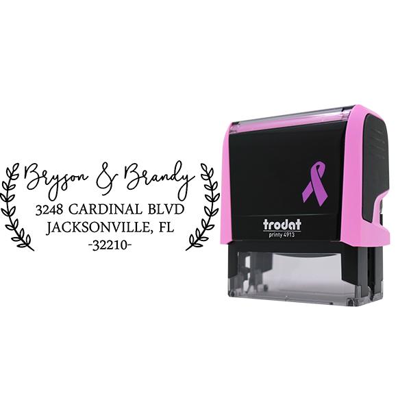 Bryson Pink Address Stamp