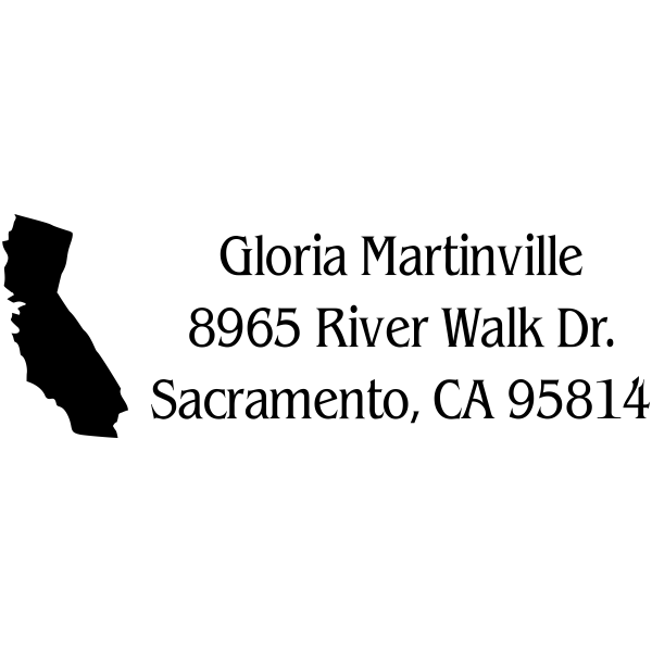 California Return Address Stamp
