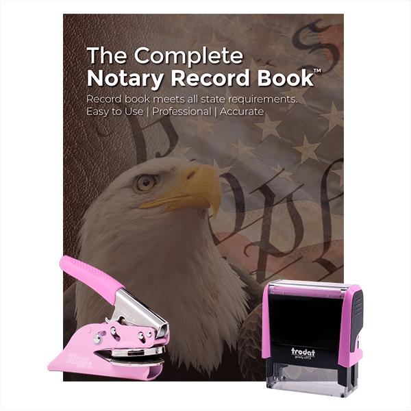 California Pink Value Notary Kit