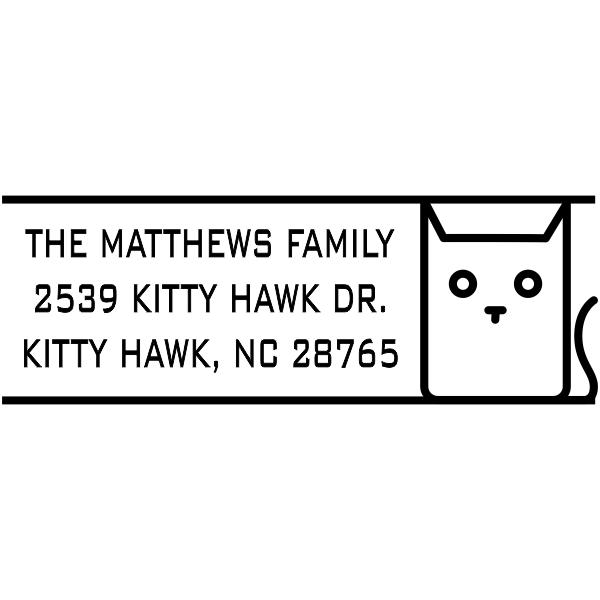 Block Cat Address Stamp