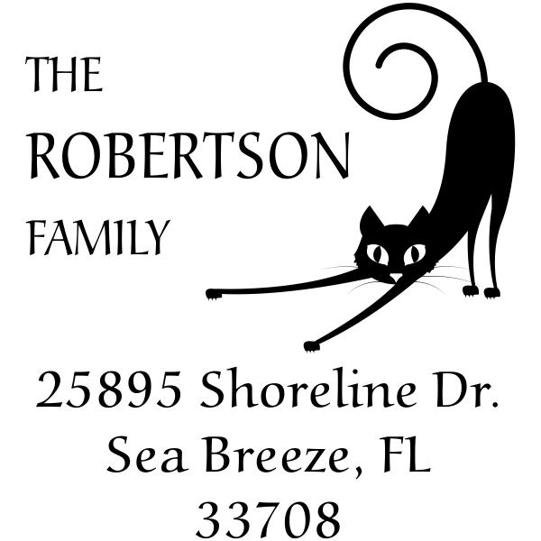 Spastic Cat Address Stamp