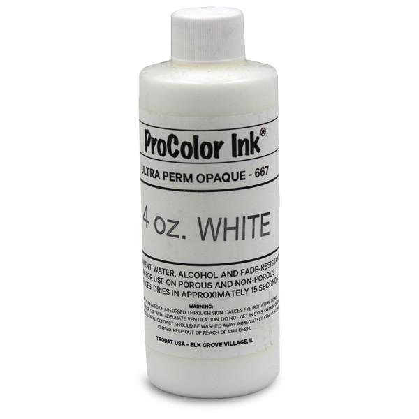 Clothing Stamp 4 oz White Ink Bottle
