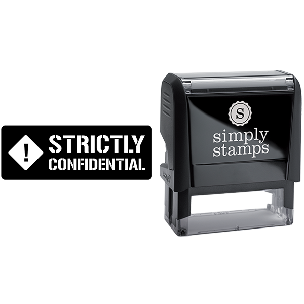 Strictly Confidential Business Stamp