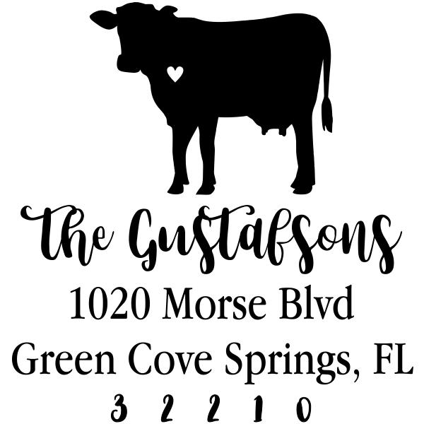 Cow Love Address Stamp