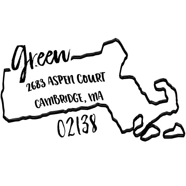 Custom Massachusetts Address Stamp